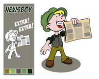 Newsboy. Stock Photo