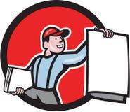Newsboy Selling Newspaper Circle Cartoon Royalty Free Stock Images
