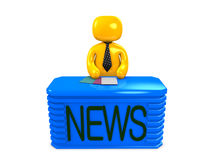 Newscaster Royalty Free Stock Images