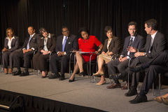 Newseum panel for Martin Luther King 50th Anniversary. No Lie Can Live Forever, Washington, D.C. aired C-SPAN TV Royalty Free Stock Photos