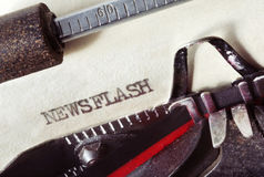 Newsflash Royalty Free Stock Photo