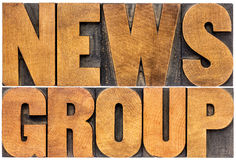 Newsgroup word typography Stock Photography