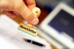 Newsletter Royalty Free Stock Photos