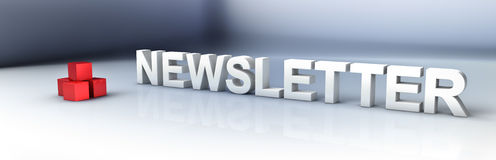 Newsletter Stockbild