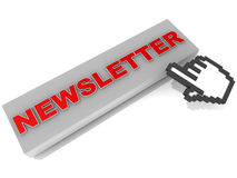 Newsletter Lizenzfreie Stockfotos