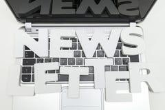 newsletter Fotografía de archivo libre de regalías