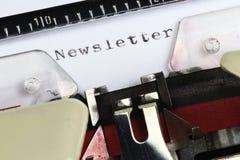 newsletter Imágenes de archivo libres de regalías