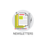 Newsletter Application Newspaper Web Icon Royalty Free Stock Images