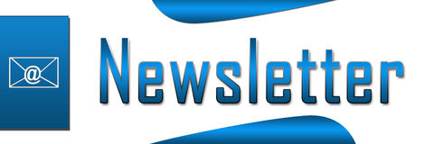 Newsletter Blue Banner Royalty Free Stock Image