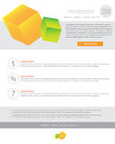 Newsletter business template Stock Images