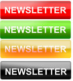 Newsletter button Royalty Free Stock Image