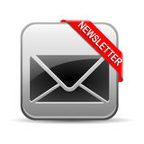 Newsletter Button  Grey Royalty Free Stock Photos