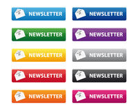 Newsletter buttons Stock Image