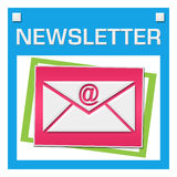Newsletter Colorful Squares Inside Stock Photo