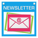 Newsletter Colorful Squares Inside Stock Images