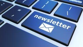 Newsletter-Computer-Tastatur Stockbilder