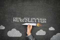 Newsletter concept Royalty Free Stock Images