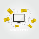 Newsletter concept Stock Photo