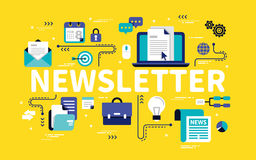 Newsletter concept design Royalty Free Stock Photography