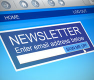 Newsletter concept. Stock Photography