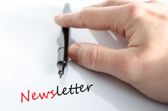Newsletter concept Royalty Free Stock Photo