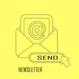 Newsletter concept Royalty Free Stock Image
