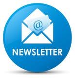 Newsletter cyan blue round button. Newsletter isolated on cyan blue round button abstract illustration Stock Photography