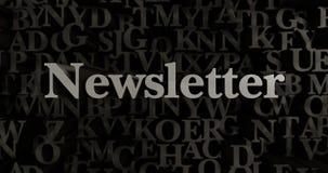 Newsletter - 3D übertrug metallische gesetzte Schlagzeilenillustration Stockfotos