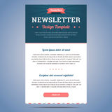Newsletter design template Stock Image