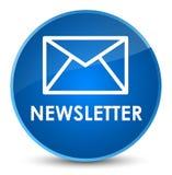 Newsletter elegant blue round button. Newsletter isolated on elegant blue round button abstract illustration Stock Photo
