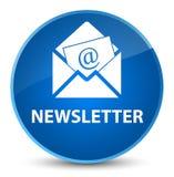 Newsletter elegant blue round button. Newsletter isolated on elegant blue round button abstract illustration Stock Image