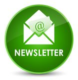 Newsletter elegant green round button. Newsletter isolated on elegant green round button abstract illustration Stock Images