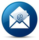Newsletter email icon blue round button. Newsletter email icon isolated on blue round button abstract illustration Royalty Free Stock Images