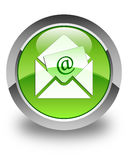 Newsletter email icon glossy green round button Royalty Free Stock Image