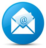 Newsletter email icon cyan blue round button. Newsletter email icon isolated on cyan blue round button abstract illustration Stock Photo