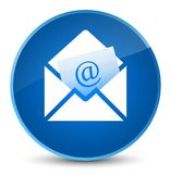 Newsletter email icon elegant blue round button Royalty Free Stock Photos