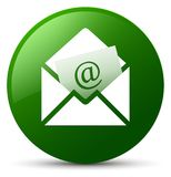 Newsletter email icon green round button. Newsletter email icon isolated on green round button abstract illustration Stock Photos