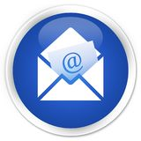 Newsletter email icon premium blue round button. Newsletter email icon isolated on premium blue round button abstract illustration Stock Photo