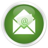 Newsletter email icon premium soft green round button. Newsletter email icon isolated on premium soft green round button abstract illustration Stock Photo