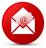 Newsletter email icon red round button Royalty Free Stock Photos