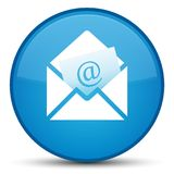 Newsletter email icon special cyan blue round button. Newsletter email icon isolated on special cyan blue round button abstract illustration Royalty Free Stock Photography