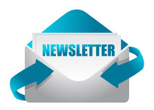 Newsletter envelope illustration design
