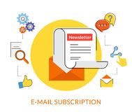 Newsletter royalty free illustration