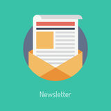 Newsletter flat illustration concept Stock Photo