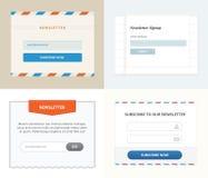 Newsletter-Form Stockfotografie