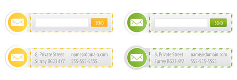 Newsletter Forms and Contact Banners Royalty Free Stock Image
