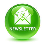 Newsletter glassy green round button Royalty Free Stock Image