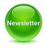 Newsletter glassy green round button Royalty Free Stock Photo