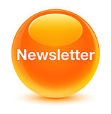 Newsletter glassy orange round button. Newsletter isolated on glassy orange round button abstract illustration Stock Image