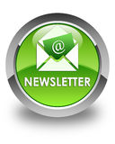 Newsletter glossy green round button Royalty Free Stock Photography